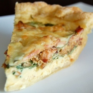 Brunch Favorites - Spinach Bacon Swiss Quiche
